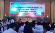 Pelantikan Anggota PPK dan Anggota PPS Pemilu Tahun 2019  Se-Kabupaten Pemalang
